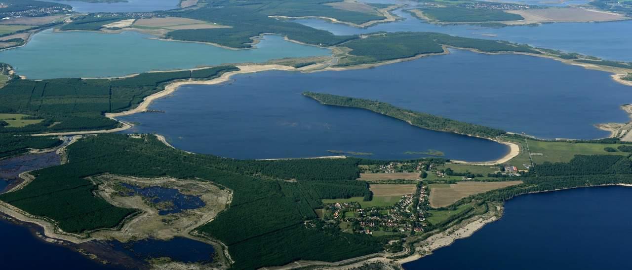Luftaufnahme vom Lausitzer Seenland